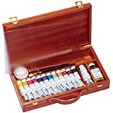 Sennelier Egg Tempera in a luxury Wood Set of 13 Tubes