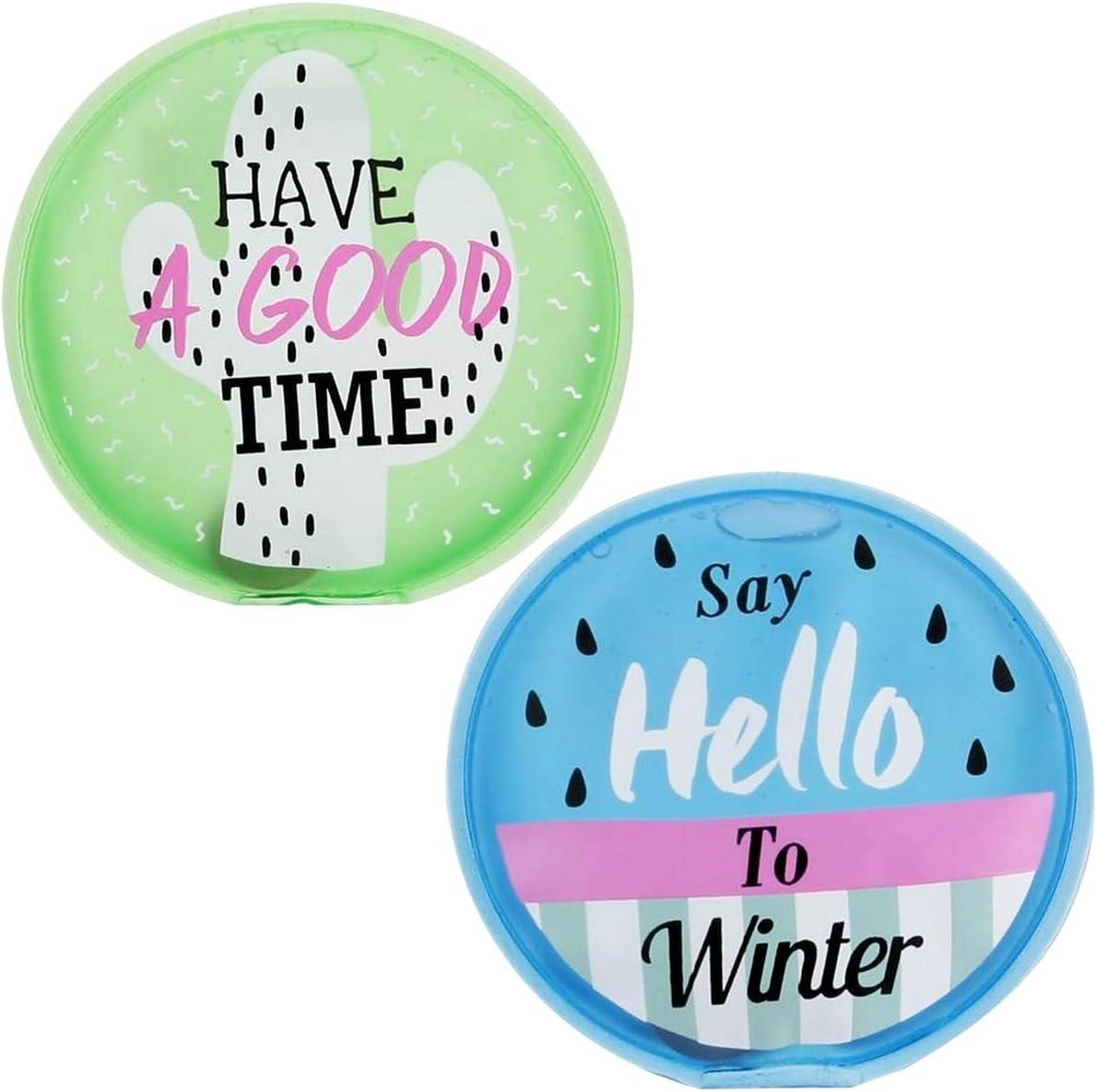 Promobo Lot 2 Mini Bouillotte Chaufferette Poche Inscription Winter Have A Good Time