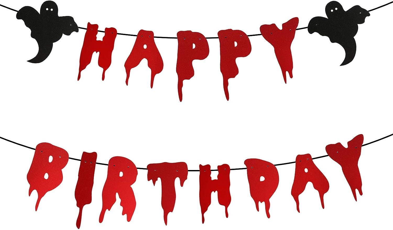 Bloody Banner Bloody Birthday Banner Bloody Decorations Halloween Banner Blood Banner Halloween Birthday Happy Birthday Banner