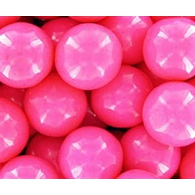 Bright Pink 1 Inch Gumballs 1LB Bag: Grocery & Gourmet Food