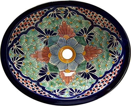 (Talavera Mexican Handmade Hand Painted Sink M15 )