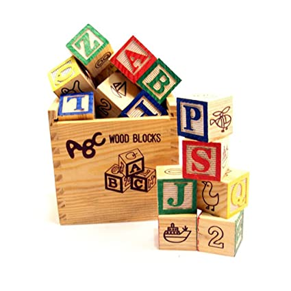 Buy Baybee 27 Pcs A B C 1 2 3 Wooden Blocks Letters Numbers With
