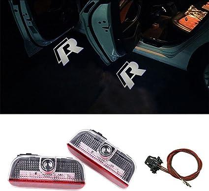 DELEIKA 2PC Car LED Door Warning Light welcome Logo Projector For VW on volkswagen 1.8 turbo engine, jeep cherokee door wiring harness, dodge ram door wiring harness, 2001 jetta stereo wiring harness,