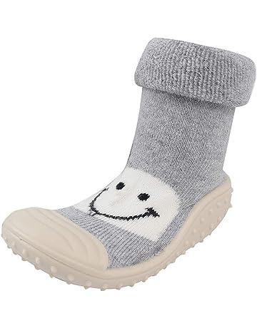 020192da27d3 NUWFOR Baby Infant Toddler Girls Boys Cartoon Smile Winter Warm Prewalker  Socks Shoes White