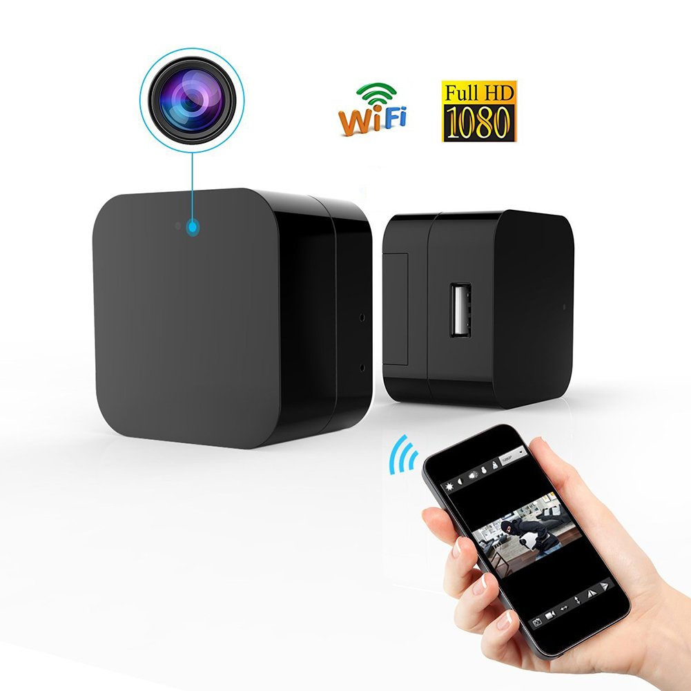 Mini Wireless IP Camera -Hidden Camera -HD 1080P-Wifi Spy Camera With Remote View App- Wall Charger Plug Motion Detection Cam For Home Security Surveillance by Bescar (Image #1)