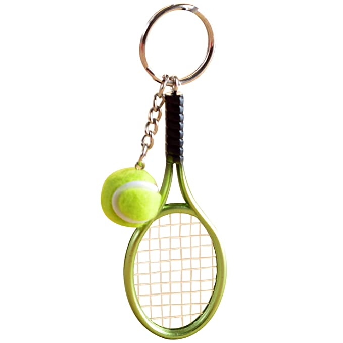 Amazon.com: naovio – Pelota de Tenis Raqueta Keychains ...