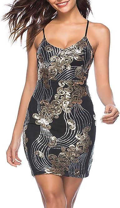 Women Bodycon Cami Dress Ladies Stitching Lace Club Party Cocktail Midi Dress US