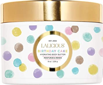 LALICIOUS Birthday Cake Shimmering Body Butter