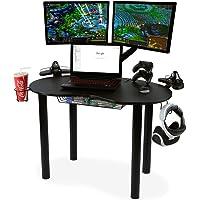 Atlantic Carbon Fiber Texture Space Saving Eclipse Gaming Desk (Black)