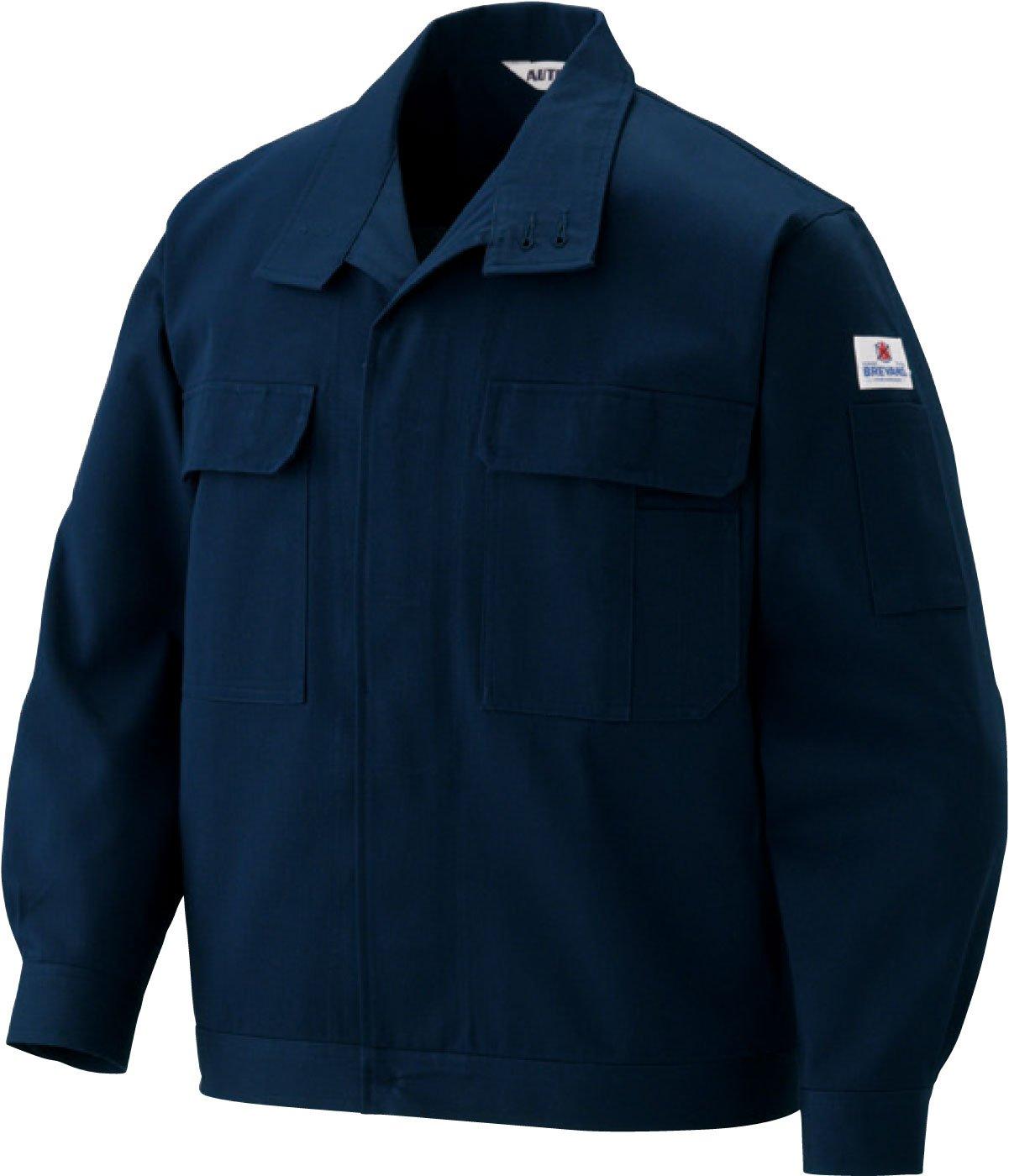 (クラボウ) KURABO長袖ブルゾン 防災ブレバノプラス ジャンパー ab-5201 B01N0K80PV 4L|ネイビーブルー