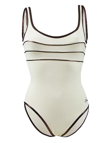 online store 25cef 5fee7 Costume da bagno Intero Livia Byblos Ancolie Beige: Amazon ...