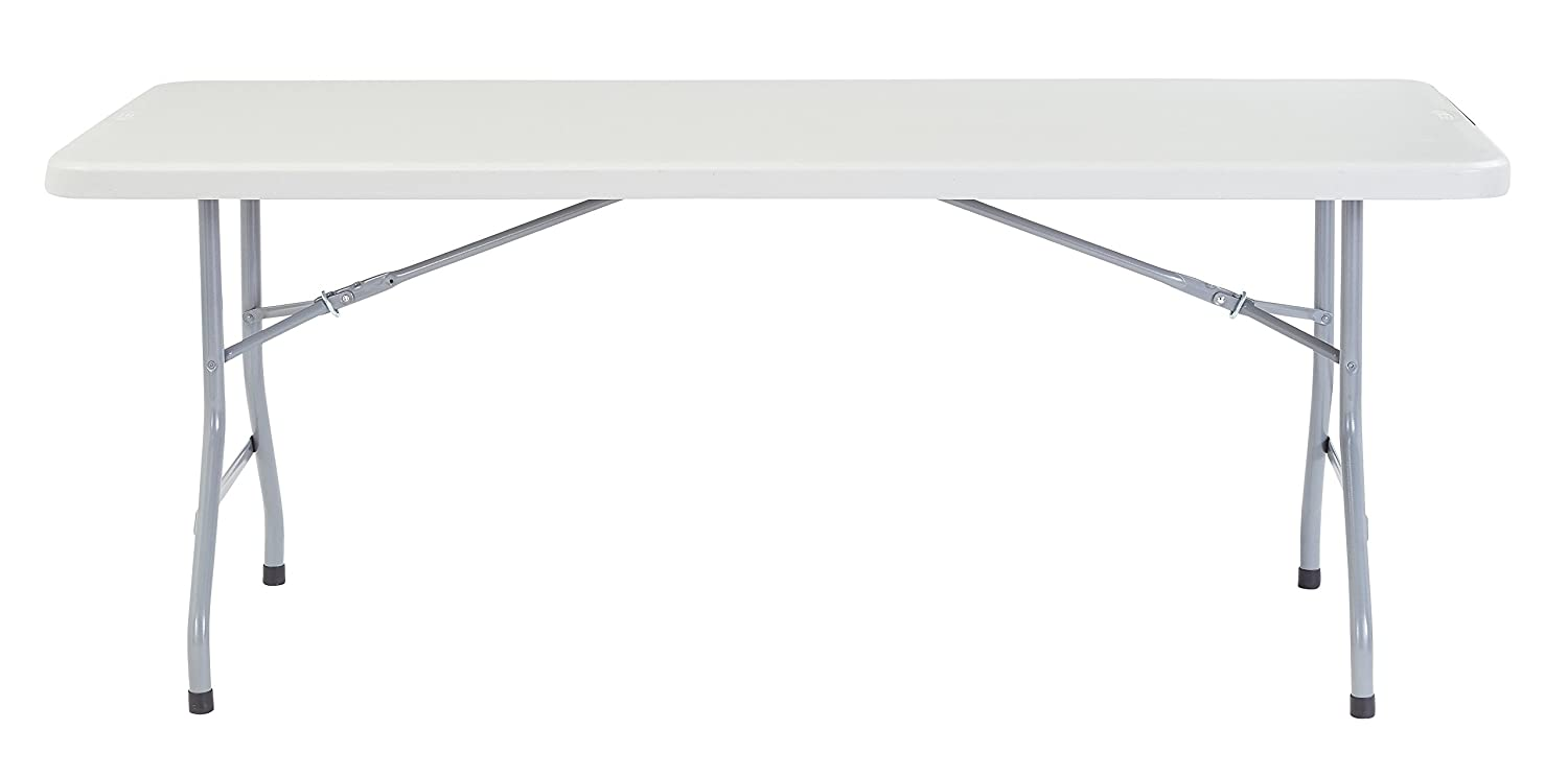 2 Pack National Public Seating 30 x72 Heavy Duty Folding Table, Speckled Grey