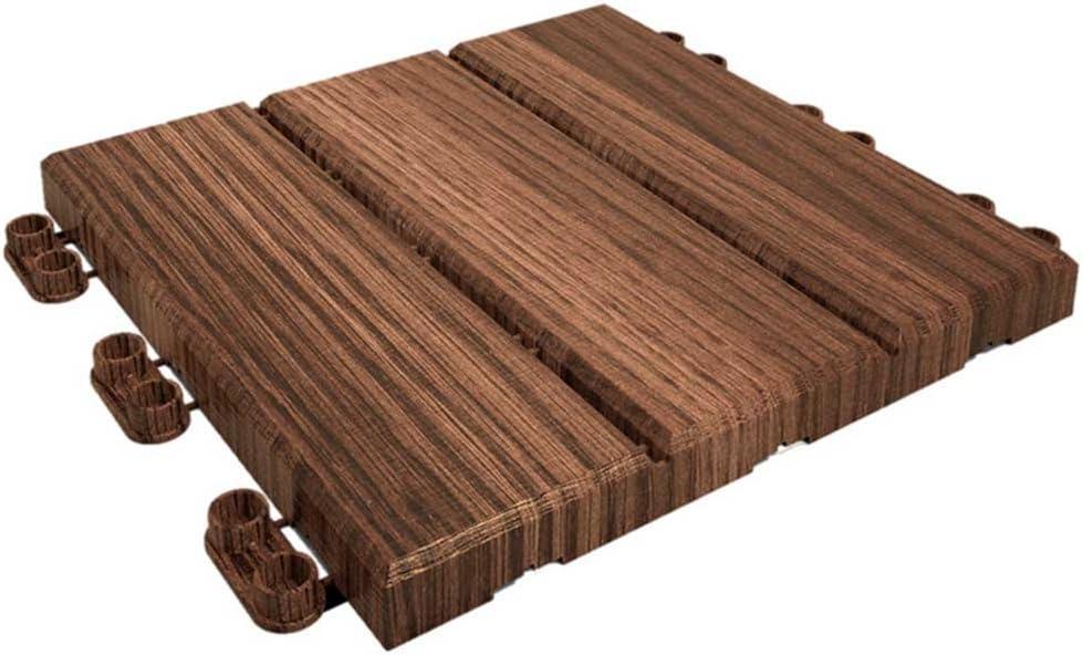 Catral 40010001 Pack 9 Baldosas Clickfloor Madera, Madera, 30 x 30 x 2 cm