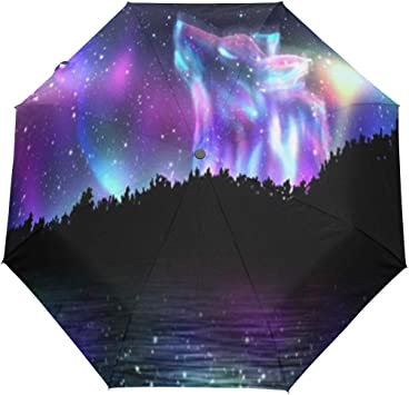 New Purple Automatic Open Rain Travel Outdoor Sun Mini Folding Portable Umbrella