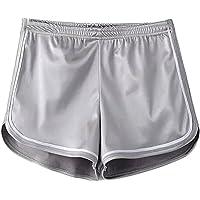 iMixCity Mujer Pantalones Cortos Deportivos Pantalones Cortos Metálicos