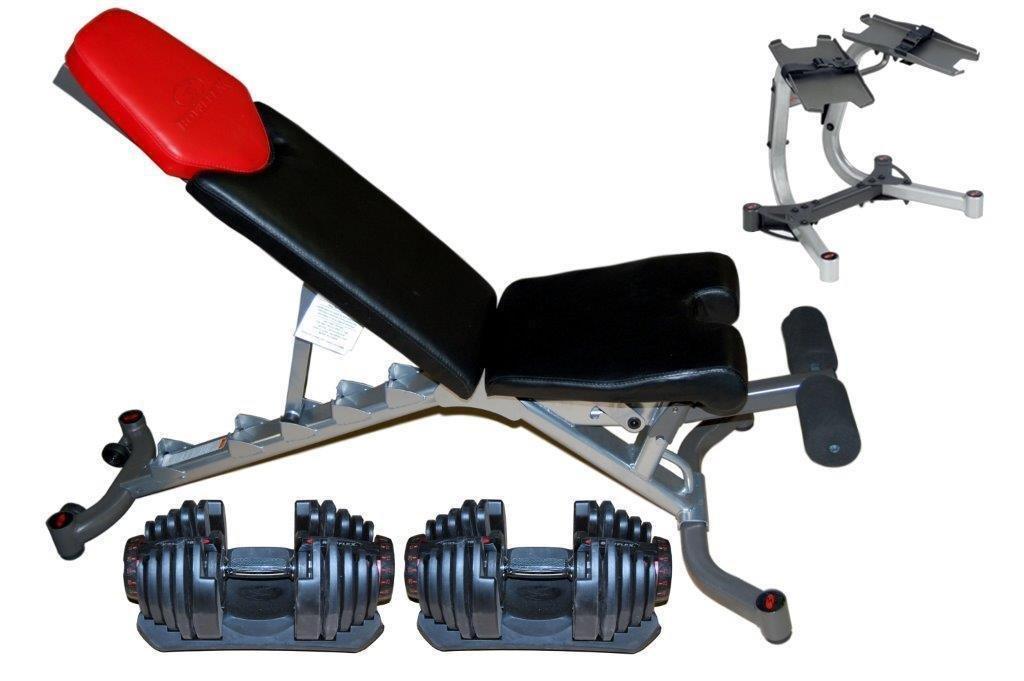 Bowflex Completo set de mancuernas 1090 ajustable 5.1 banco soporte: Amazon.es: Deportes y aire libre