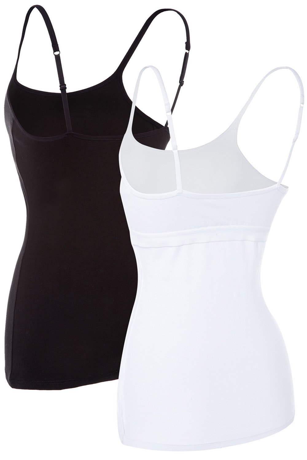 ALove Women Soft Camisoles Basic Cami Tops Shelf Bra Casual Tank Tops 2 Pack Small by ALove (Image #4)