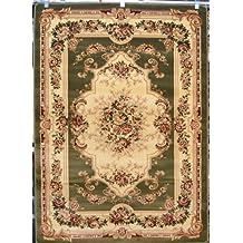 Green Burgundy Ivory Beige 1'8x2'10 Black Victorian Area Rug Oriental Carpet Large New 2857
