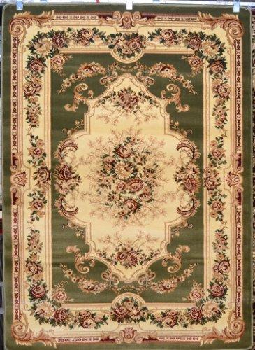 Green Beige Floral Oriental Carpet product image