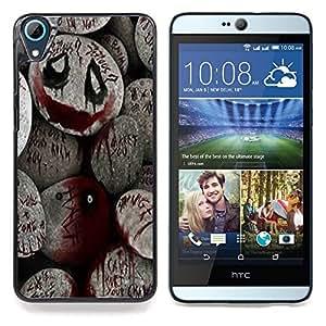 "Qstar Arte & diseño plástico duro Fundas Cover Cubre Hard Case Cover para HTC Desire 826 (De Halloween Monster Blood Spooky Pumpkin"")"