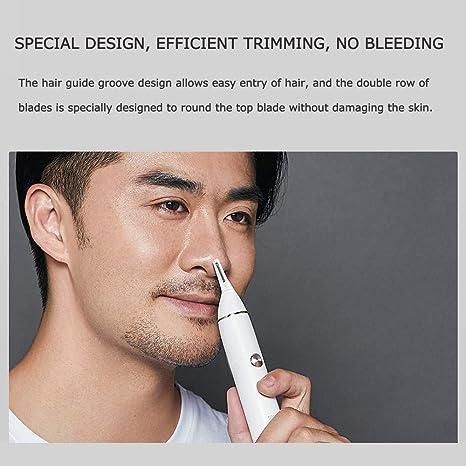 SOOCAS N1 Cortapelos impermeable para la nariz, cuchillas de doble ...