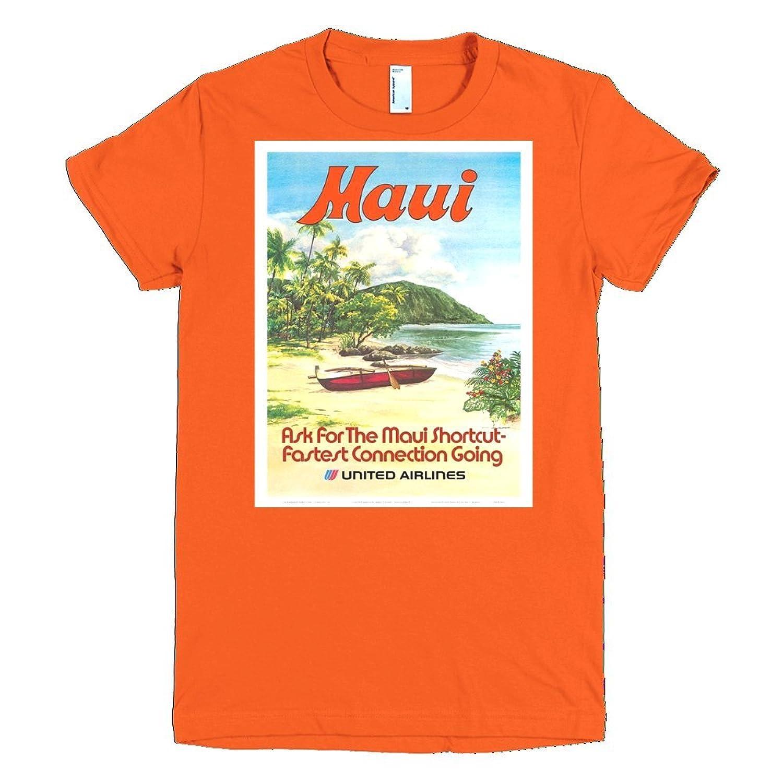 Vintage poster - Maui - Fine Jersey Short Sleeve Women T-Shirt