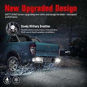 MICTUNING 40W Flush Mount Led Pods, Flood CREE Led Work Light Bar, Off Road Backup Driving Lights Fog Lamp for Jeep Bumper ATV UTV SUV Truck Boat