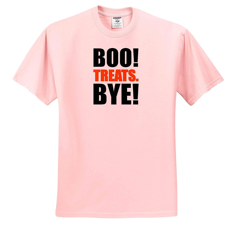 Bye Boo Treats Illustrations Funny Halloween Design T-Shirts 3dRose Carsten Reisinger