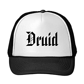 Funny Druid Nice Gothic Font Black And White Trucker Hat Amazon