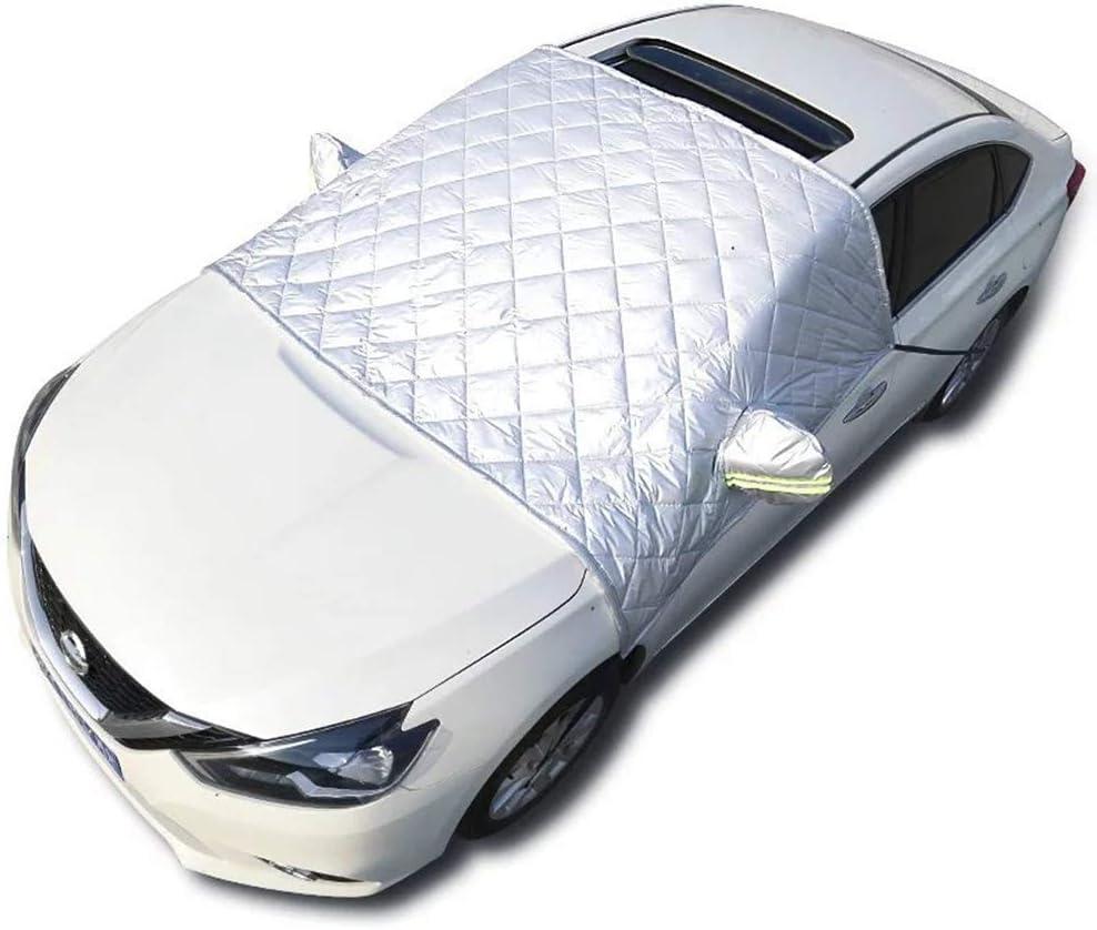 Exquileg Faltbare Abnehmbare Windschutzscheibe Abdeckung Frontscheibenabdeckung Auto Eisschutzfolie Sonnenschutz Scheibenabdeckung 148x240cm Auto Suv Universal Auto
