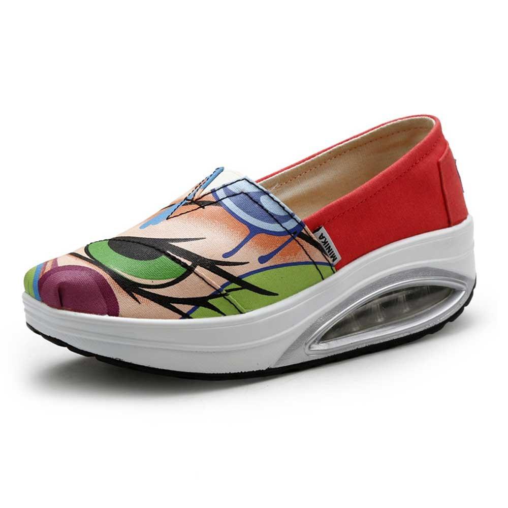 FangYOU1314 pour Toile Paresseux Chaussures B06XH6LYJ7 PU Outsole Anti-dérapage Porter 19238 des Chaussures pour Femmes (Couleur : Multicolore, Taille : 38 EU) Multicolore a18685a - shopssong.space