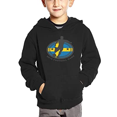 2018 Football Game Sweden Unisex Babys Pullover with Pocket Crew Neck Hoodies
