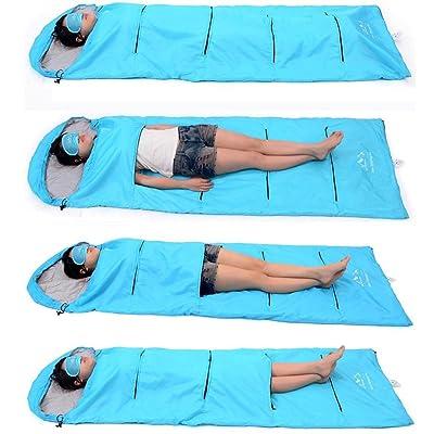 Nola Sang Sac de couchage Ultralight Portable Mountain Chain Travel Saco de couchage respirant pour un camping adulte Randonnée et plaisir intérieur