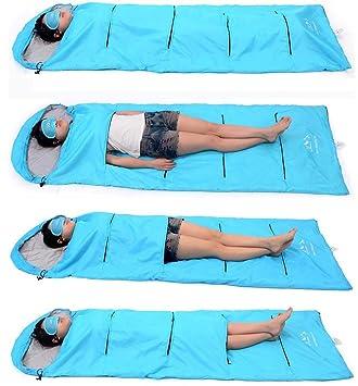 Nola Sang Ultralight Sleeping Bag Portátil Cadena de Montaña Viaje Saco de dormir transpirable para adultos acampar y diversión interior , blue: Amazon.es: ...