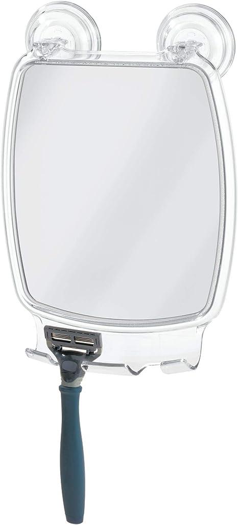 Fog Free Mirror Bathroom Shower Fogless Shaving Bathtub Power Lock Suction Razor