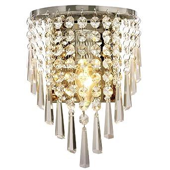 Maxmer Applique Murale En Cristal Simple Moderne Lampe Originale Design  Créatif Éclairage Décorative Lumiaire Aluminium Chambre