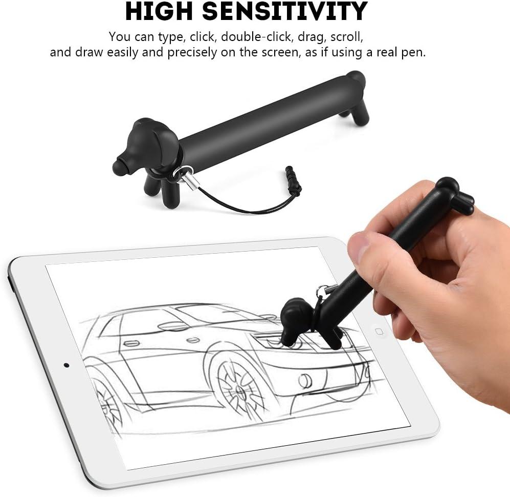 VBESTLIFE Ricambio per Penna Stilo Capacitivo Portatile Tipo Cane Universale Universale per Telefono//Tablet Tipo Retriever