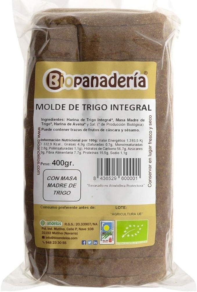 Biopanadería Pan de Molde de Trigo Integral y Masa Madre Natural Ecológico