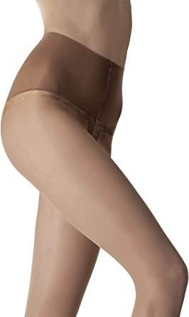 Fiore 20 Denier Shaping and Slimming Tights Available in Black or Tan