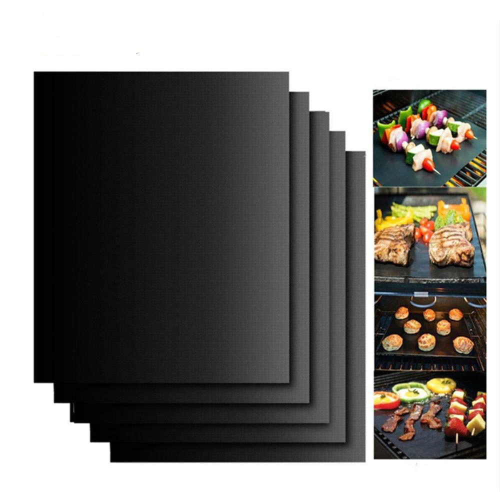 Teflon Barbecue Grill Mat for Microwave Oven Outdoor BBQ Accessories Non-stick BBQ Liner Sheet 400 x 330mm Reusable Grill Mat