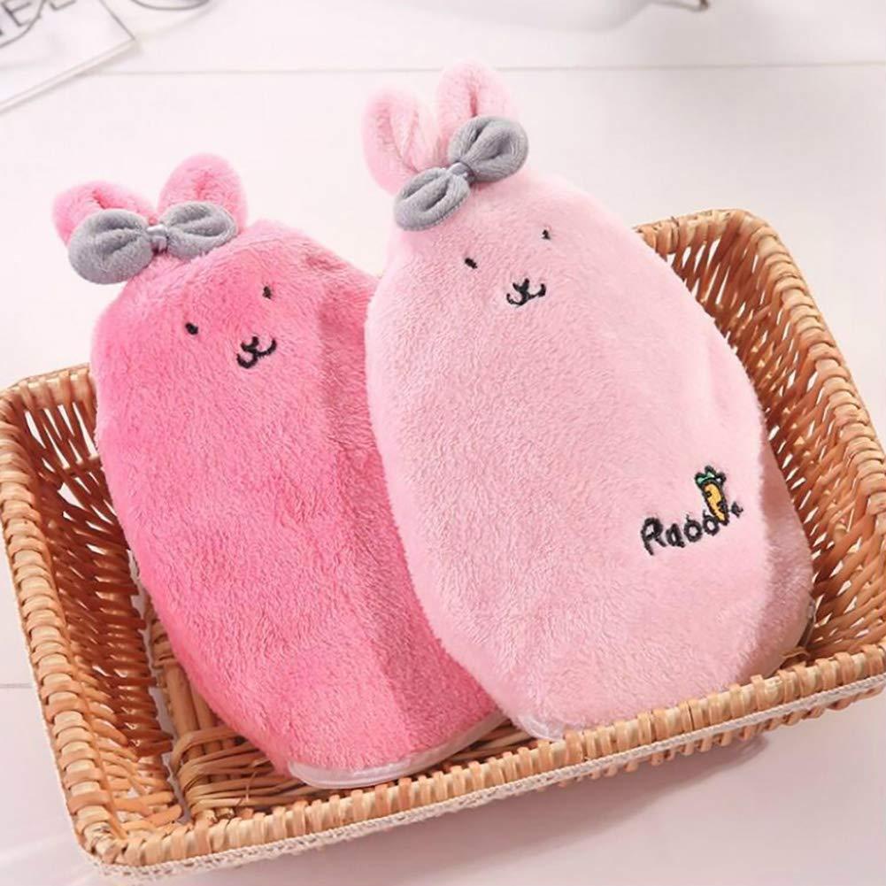 L-DiscountStore Large Hot Water Bottle Cute Cartoon Rabbit Warm Water Bag Hand Warmers Winter Women Girl Kids Gift