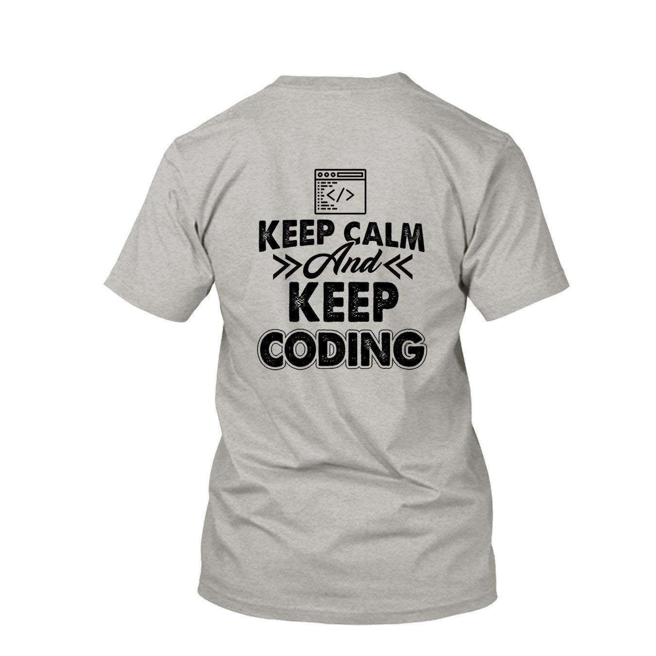 d42cfe1f Amazon.com: Are Black Programmer Keep Coding Unisex Shirt, Short Sleeve Tee  Shirts: Clothing