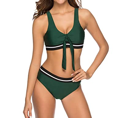 Bikini de Color sólido Verde Militar de Gama Alta de Trajes ...