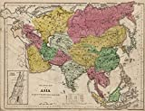 School Atlas | 1845 Political Map Of Asia | Historic Antique Vintage Reprint