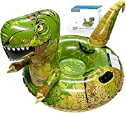 FindUWill Inflatable Dinosaur Snow Tube, 64.9 inch Giant Winter Sled, Reinforced Handles & Double Layer Bo