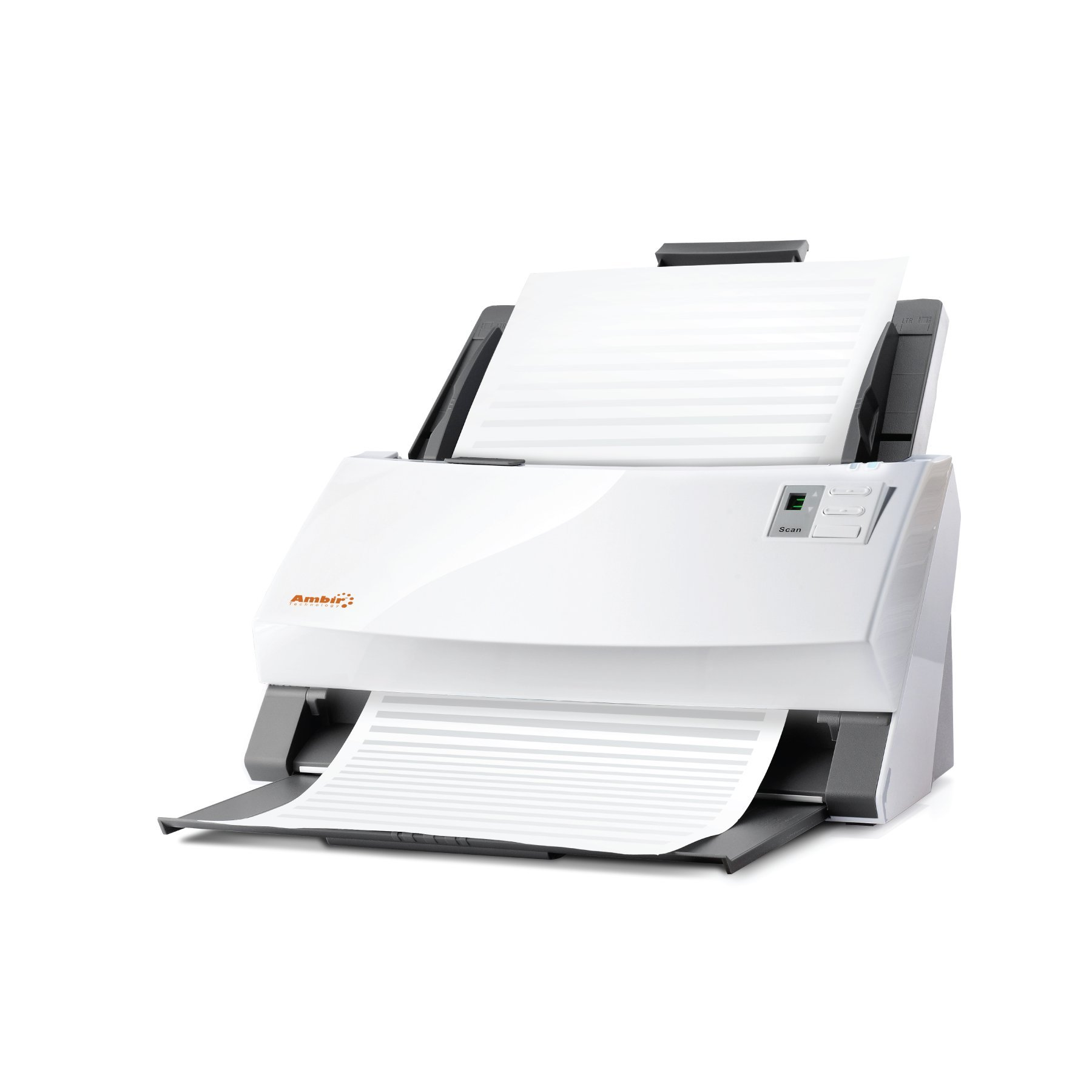 Ambir ImageScan Pro 960u (DS960-AS) 60ppm High-Speed Document Scanner with UltraSonic Misfeed Detection by Ambir