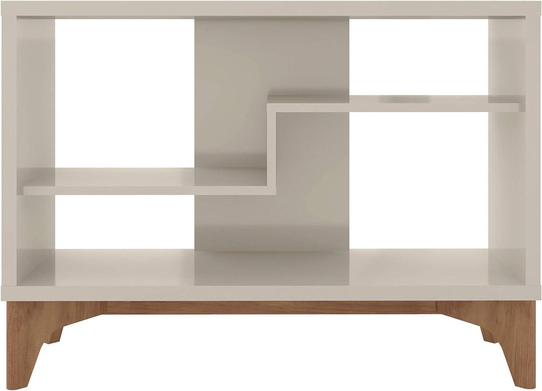 Grey 35.43 Manhattan Comfort Gowanus Modern 2 Shelf Accent Display Sideboard Cabinet
