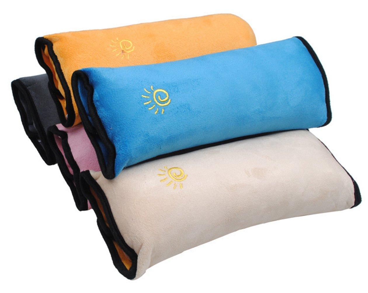 Tpfocus Children Kids Car Safety Seat Belt Pillow Shoulder Strap Pad Head Support Sleep Pillow Set of 5