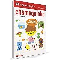 Papel Sulfite A4, Chamex, 29882, Chamequinho, 180 gramas, Branco, International Paper, 50 Folhas