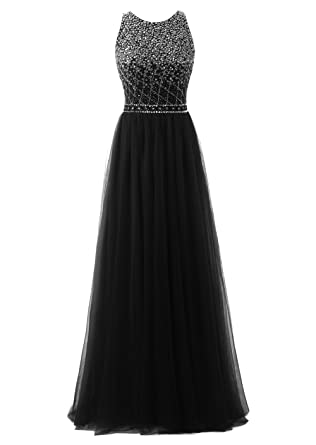 Callmelady High Neck Long Prom Dresses For Women Evening & Cocktail Party (Black, ...